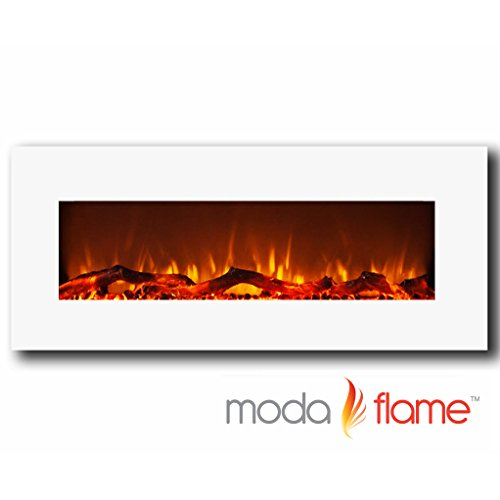Read About Moda Flame Houston 50 Electric Wall Mounted Fireplace White