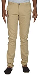 CODE 51 Men's Casual Trouser (PE022, Beige, 36)