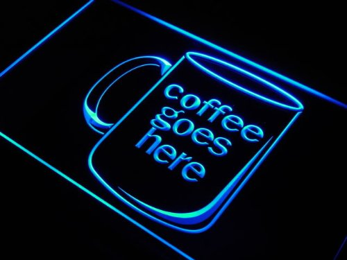 Adv Pro J976-B Coffee Cup Goes Here Cafe Shop Led Light Sign