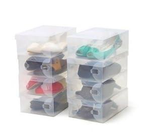 Beautylife 10 x bo te de chaussures en plastique - Boite rangement chaussures plastique ...