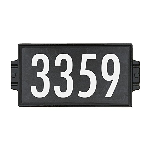 Address Plaque - House Numbers - Address Sign - Charcoal Stone 4 (Craftsman Address Numbers compare prices)