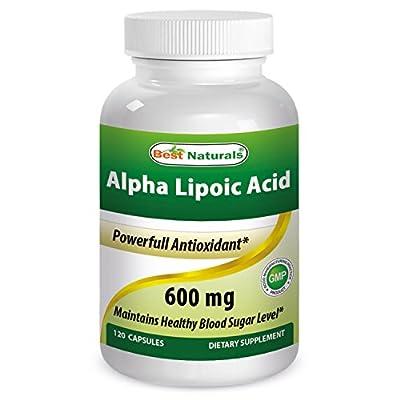 Best Naturals -- Alpha Lipoic Acid (ALA) -- 600 mg