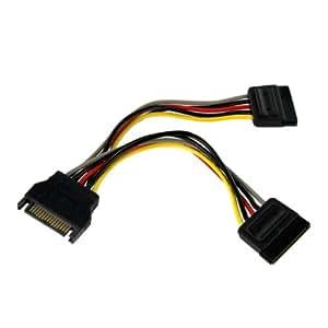 StarTech.com PYO2SATA Adaptateur de câble répartiteur d'alimentation en YSATA 15cm M/F