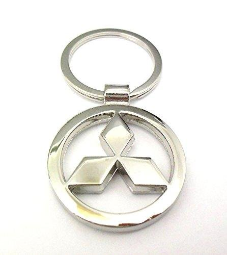 mitsubishi-en-metal-chrome-voiture-logo-porte-cles-porte-cles-porte-cles