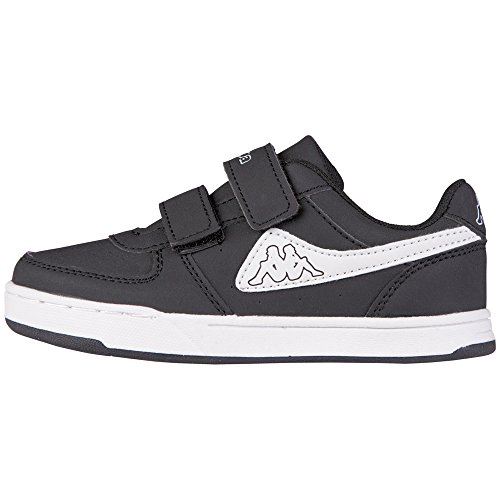 kappa-trooper-light-kids-sneakers-basses-mixte-enfant-noir-schwarz-1110-black-white-31-eu