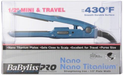 Babyliss Pro Babnt3050 Nano Titanium Straightening Iron, 0.5 Inch