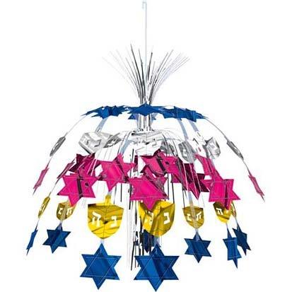 Dreidel and Star Hanging Cascade Decoration - 1