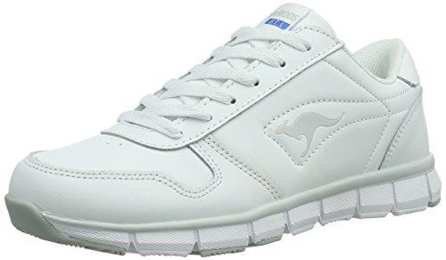 KangaROOS K-BlueRun 700, Sneaker donna, Bianco (Weiß (white/lt grey 002)), 39 EU (6 Erwachsene UK)