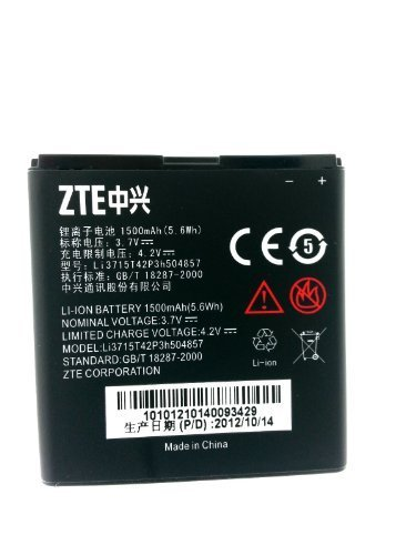 T-MOBILE ZTE V768 CONCORD 3G OEM LI-ION BATTERY Li3715T42P3h504857 1500mAh (Battery For Zte compare prices)