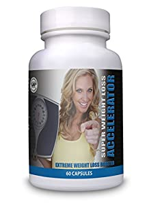 ULTRA Strong SUPER WEIGHT LOSS ACCELERATOR Diet Pills - 1 Month Supply - Fat Burners For Men & Women - Work Quicker Than Raspberry Ketones Colon Cleanse T5 T6 - Lose Weight Fast Slimming Supplement