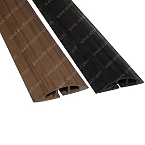 d 100 rubber duct cord cover 5 ft brown electronics. Black Bedroom Furniture Sets. Home Design Ideas