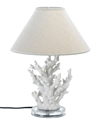 White Coral Lamp Ocean Beach Decor 22 Quot Amazon Com