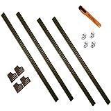 MirrEdge 60 in. x 60 in. Cherry Walnut Complete Installation Kit