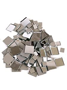 Mosaic Mercantile Mirror Tile, 1-1/2-Inch, Square, 10 Count
