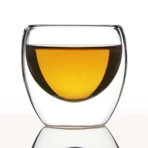 Cadeau fait main à Double Paroi en verre Motif café 65 ml-Tasse à expresso - 6 Azzinoth Unihom-tasses