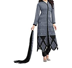 MK Enterprise  Women's Georgette Unstitched Dress Material (Grey)