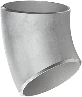 Stainless Steel 316/316L Butt-Weld Pipe Fitting, Long Radius 45 Degree Elbow, Schedule 10