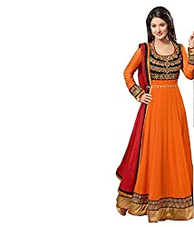 AC11-orange akshara designer long anarkali suits