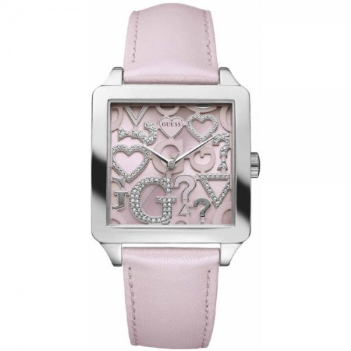 Guess Icon Squared Pink Ladies Watch - W80056L2