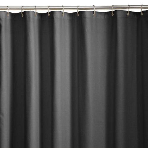 Maytex Microfiber Shower Curtain Liner Black