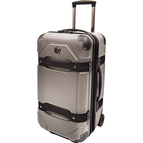 travelers-choice-travelers-choice-24-inch-hardside-rolling-trunk-luggage-charcoal-one-size