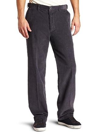 Haggar Mens Work To Weekend Hidden Expandable Waist Corduroy Plain Front Pant, Cadet Blue,42x32