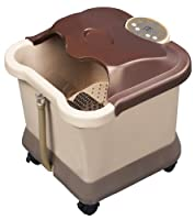 Carepeutic Deluxe Motorized Foot and Leg Spa Bath Massager, Light Burgundy