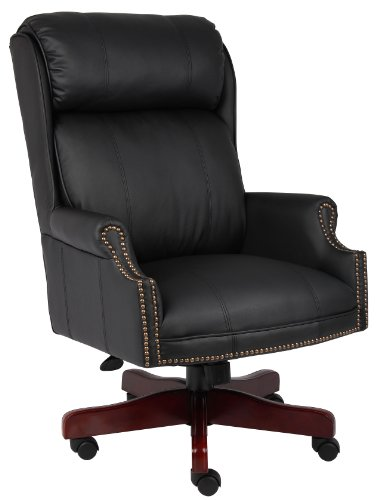 boss-office-products-b980-cp-traditional-high-back-caressoftplus-chair-with-mahogany-base-in-black