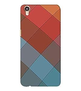 EPICCASE squares Mobile Back Case Cover For Oppo F1 Plus (Designer Case)