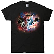 Funny Cat Floating In Space T-Shirt