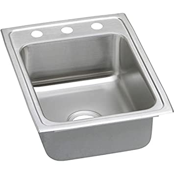 Elkay PSR17222 2-Hole Gourmet 22-Inch x 17-Inch Single Basin Drop-Inch Stainless Steel Kitchen Sink