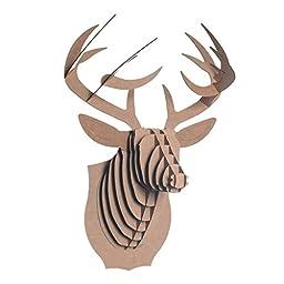 Cardboard Safari Bucky Cardboard Deer Head, Small, Brown