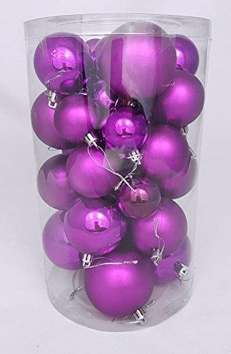 Christbaumkugeln-30er-Set-Weihnachtskugeln-in-4-verschiedenen-Gren-Material-Kunststoff-lila