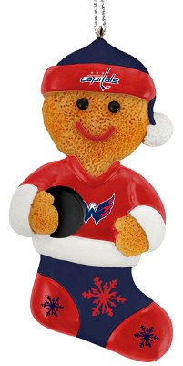 Washington Capitals Resin Gingerbread Man Ornament