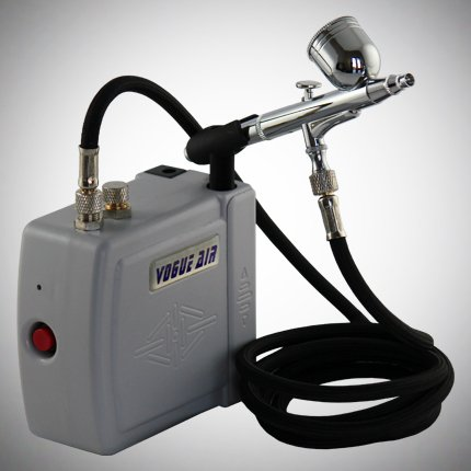 Multi-purpose Airbrushing System with Mini Airbrush Compressor, Dual-action Gravity Feed Airbrush and Air Hose Kit