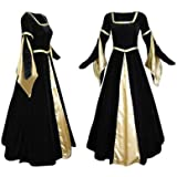 Artemisia Designs Medieval Renaissance Gown Black Velvet And Gold Satin 3 X