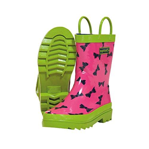 Target Dry Heidi - Stivali in gomma fantasia di fiocchettini - Bambina (23 EU) (Rosa/Verde Lime)