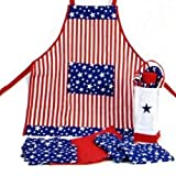 Patriotic Americana Kitchen in a Bag - 12 Pc Cook Set Stars & Stripes