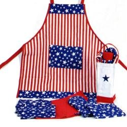 Patriotic Americana Kitchen In A Bag - 12 Pc Cook Set Stars & Stripes