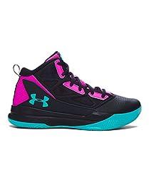 Under Armour Girls\' Grade School UA Jet Mid Basketball Shoes 5.5 Black