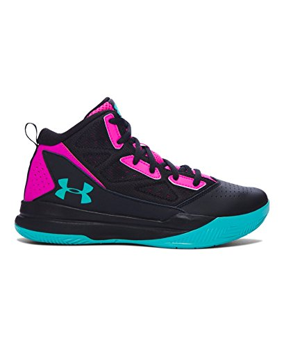 Under Armour Girls' Grade School UA Jet Mid Basketball Shoes 6 Black