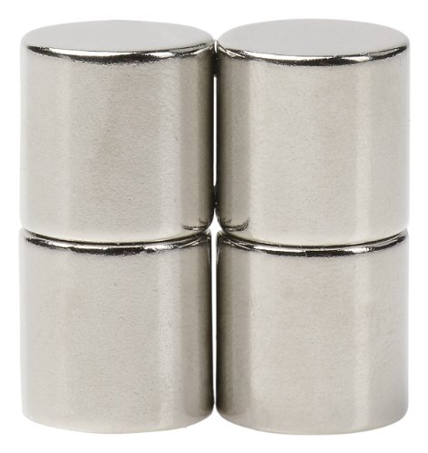 BYKES 4 Neodymium Super Strong Extremly Powerful Rare Earth Refrigerator Magnets 1/2 x 1/2 inch Cylinder N48 (Rare Earth Fridge Magnets compare prices)