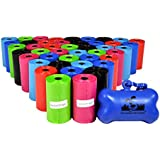 880 Pet Waste Bags, Dog Waste Bags, Bulk Poop Bags on a roll, Clean up poop bag refills - (Color: Rainbow of Colors) by Downtown Pet Supply