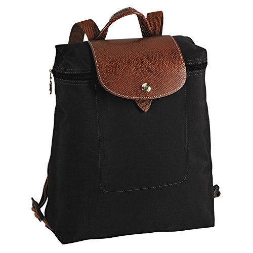 Longchamp discount duty free Longchamp Le Pliage Backpack (Black)