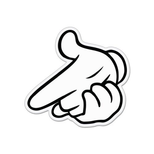 "Amazon.com: Air Gun Mickey Hands Car Sticker Decal 4"""