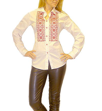 Etro New White Red Embroidered Shirt Blouse. L