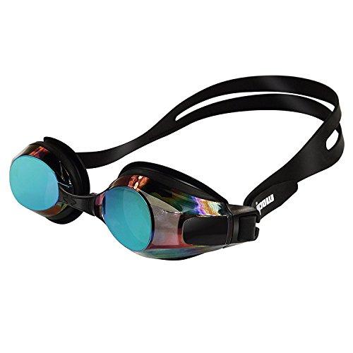 Ipow®Schwimmbrille für Erwachsene, UV-Schutz + Antibeschlag Starkes Silikonband