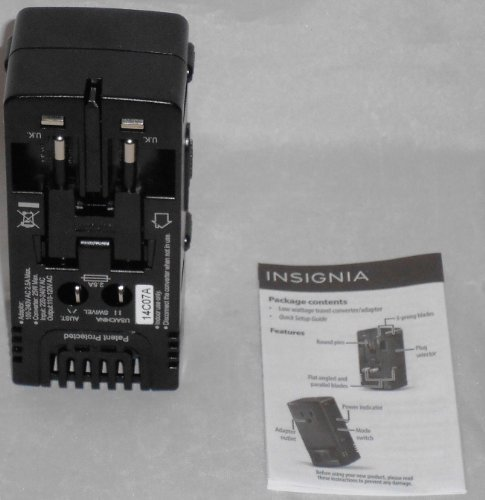 Insignia Travel Adapter Converter Four Common International Plugs Ns-Tadpcon