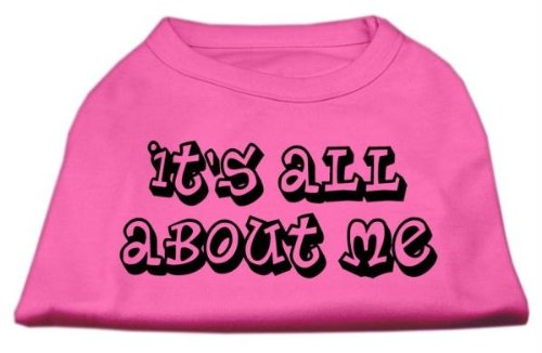 Mirage Pet Products 16-Inch It's All About Me Screen Print Shirts for Pets, X-Large, Bright Pink mirage pet products 20 inch patriotic star paw screen print shirts for pets 3x large white