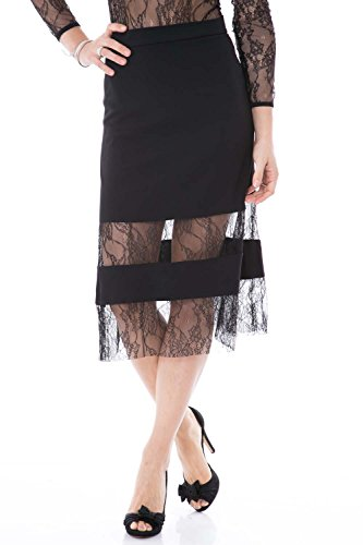 IMPERIAL - Gonna donna nera pizzo ged2sni s nero